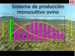 sistema de producci n monocultivo ovino