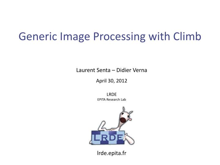 generic image processing with climb n.