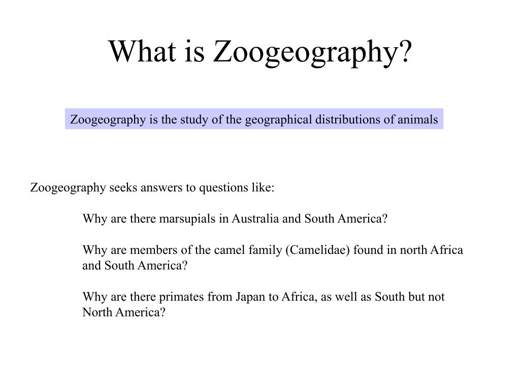 What is Zoogeography?