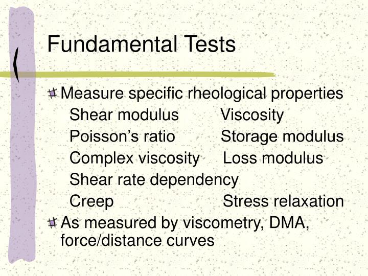 Fundamental Tests