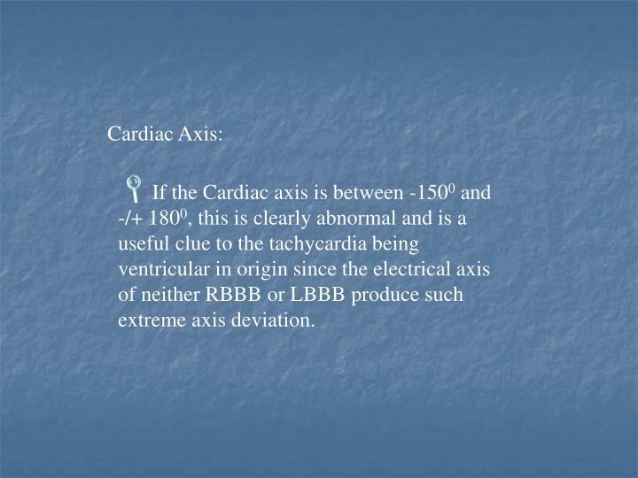 Cardiac Axis:
