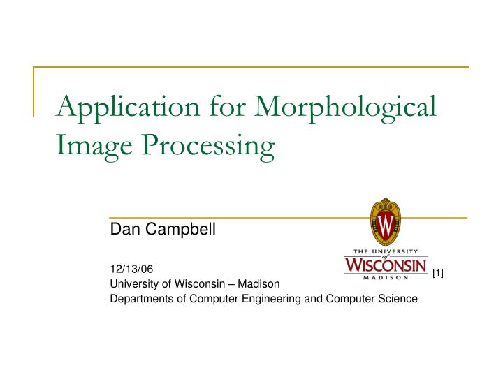application for morphological image processing n.