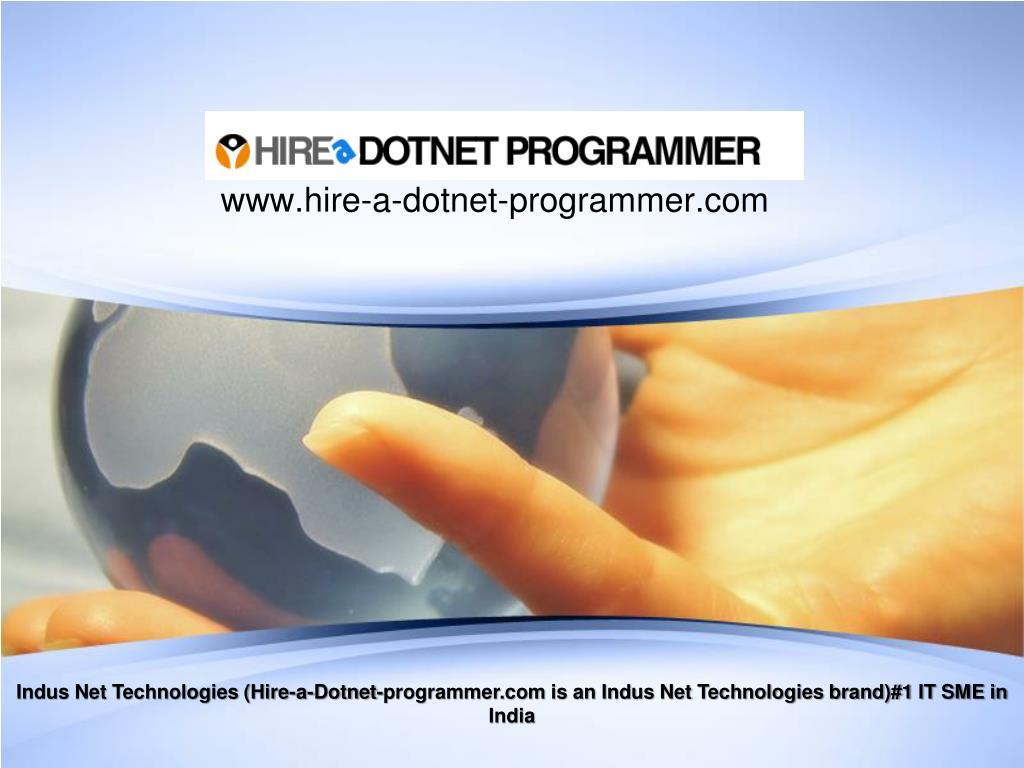 www hire a dotnet programmer com l.