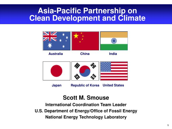 asia pacific partnership on clean development and climate n.