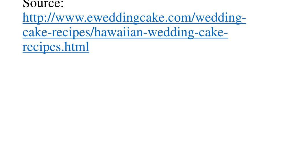 source http www eweddingcake com wedding cake recipes hawaiian wedding cake recipes html l.
