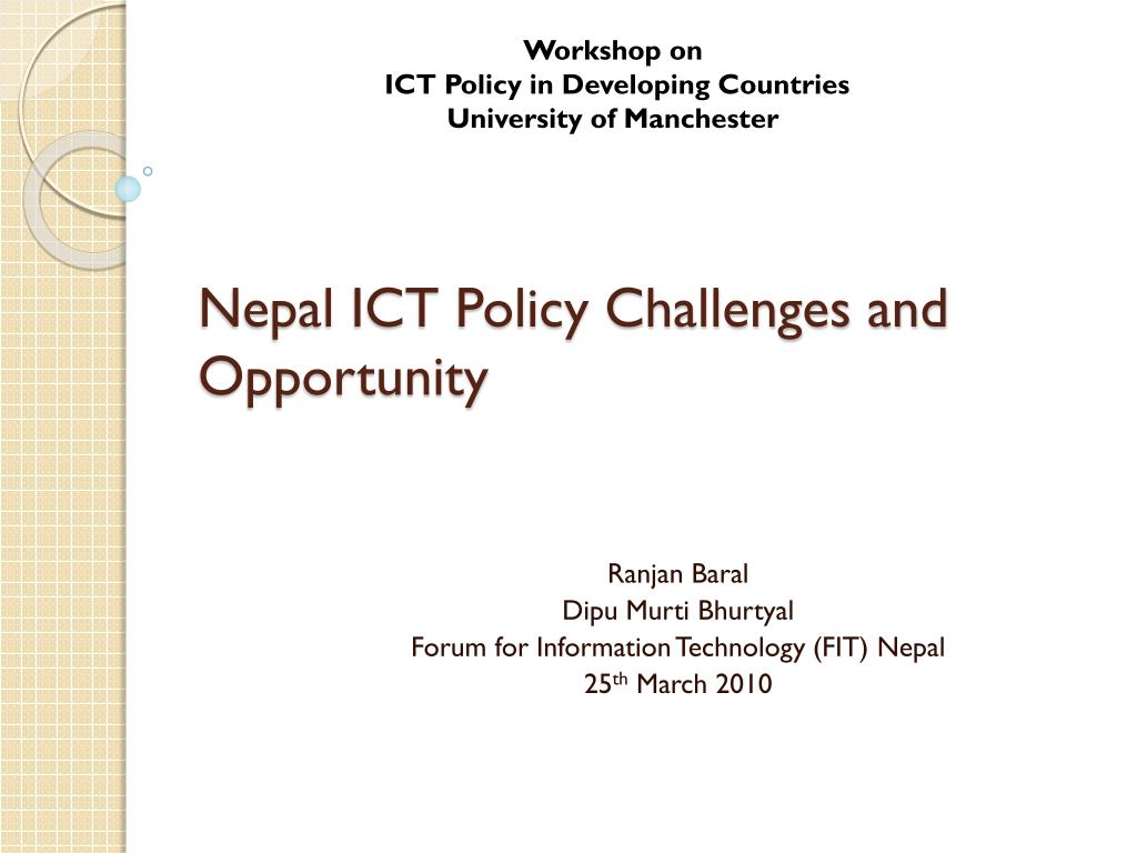 nepal ict policy challenges and opportunity l.