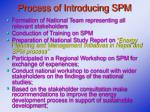 process of introducing spm