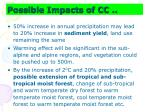 possible impacts of cc8