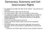 democracy autonomy and self determination rights