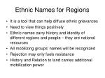 ethnic names for regions