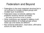 federalism and beyond