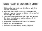 state nation or multination state
