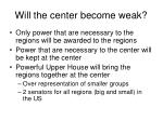 will the center become weak