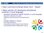 major partner for developing educational contents