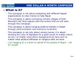 one dollar a month campaign
