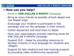 one dollar a month campaign60