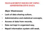 management issues of using administrative data12