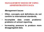 management issues of using administrative data9