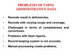 problems of using administrative data