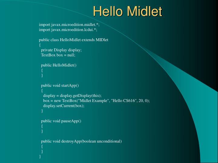 Hello Midlet