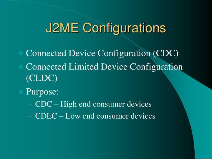 J2ME Configurations