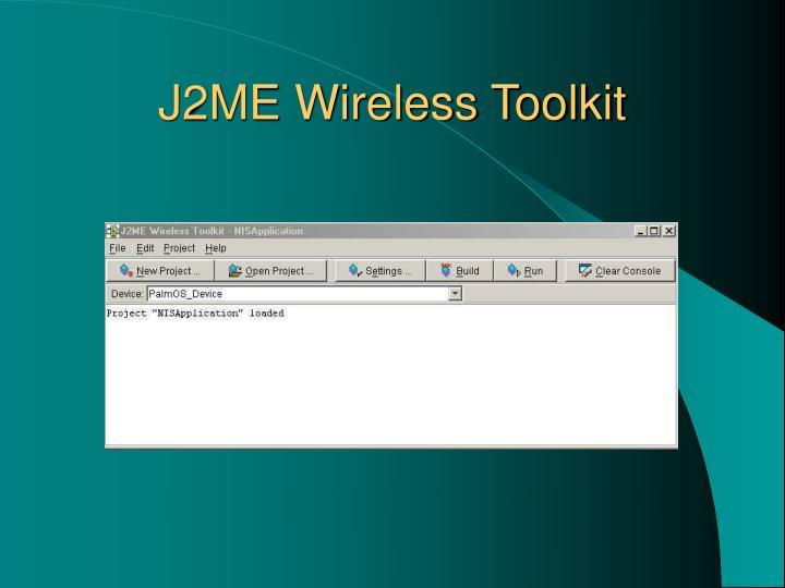 J2ME Wireless Toolkit