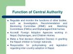 function of central authority
