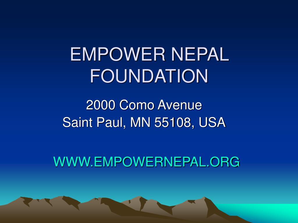 EMPOWER NEPAL FOUNDATION