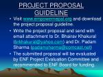 project proposal guideline