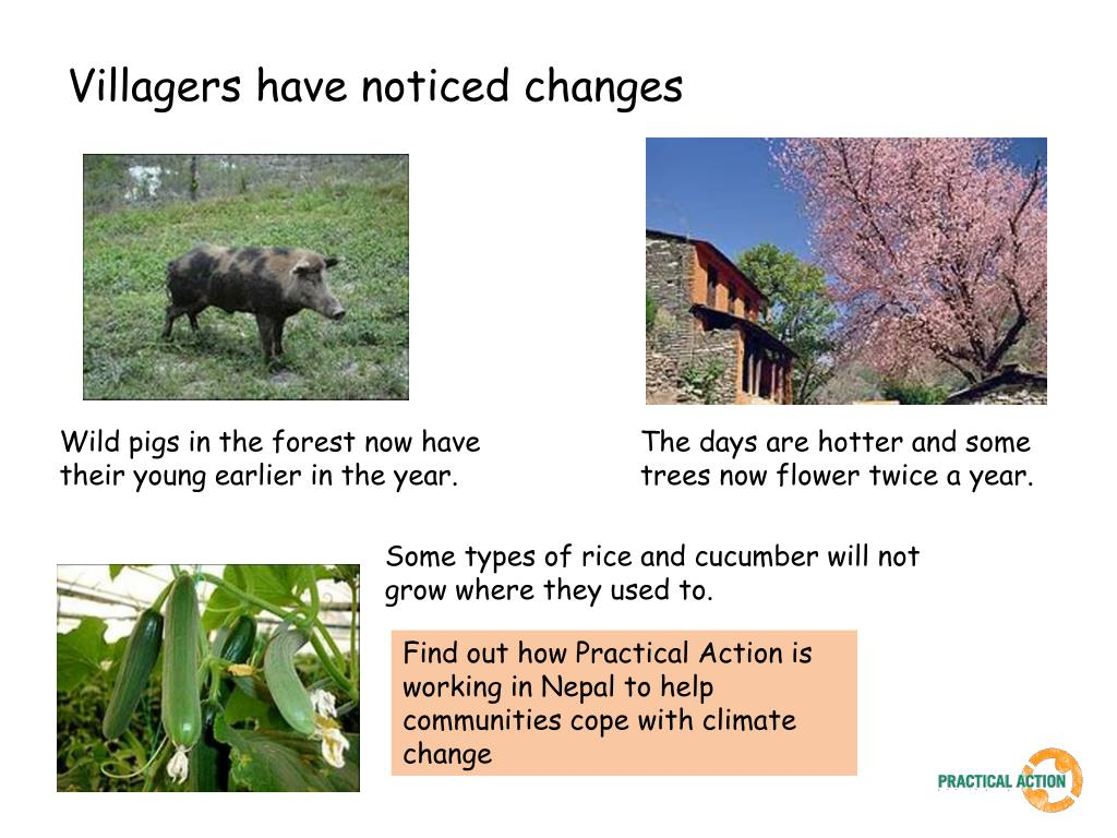 Villagers have noticed changes