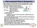 pan localization phase ii background
