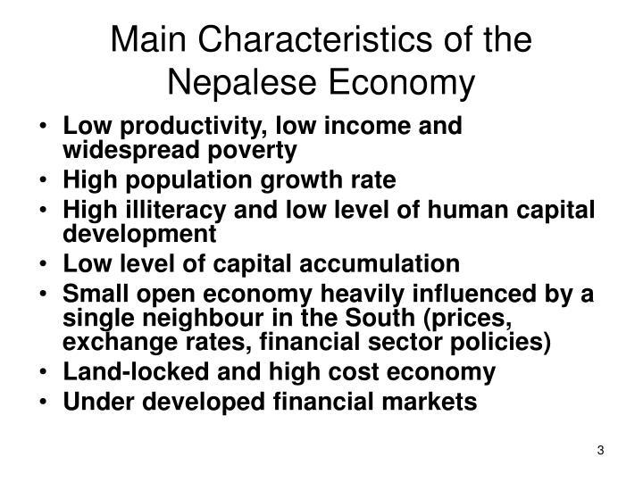 Main characteristics of the nepalese economy