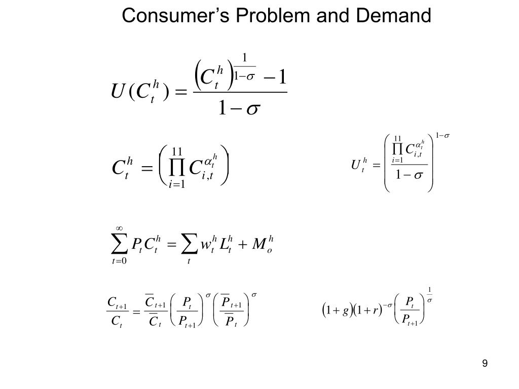 Consumer's Problem and Demand