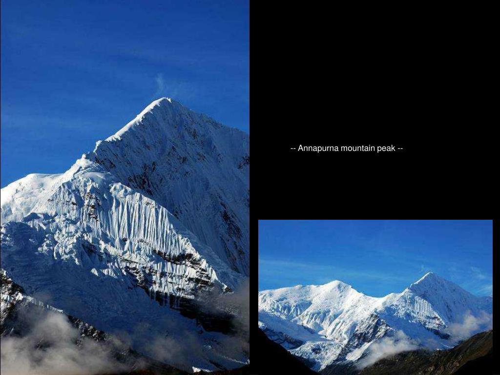 -- Annapurna mountain peak --