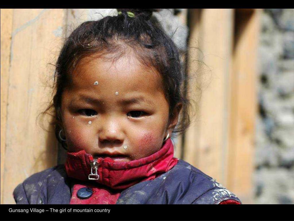 Gunsang Village – The girl of mountain country