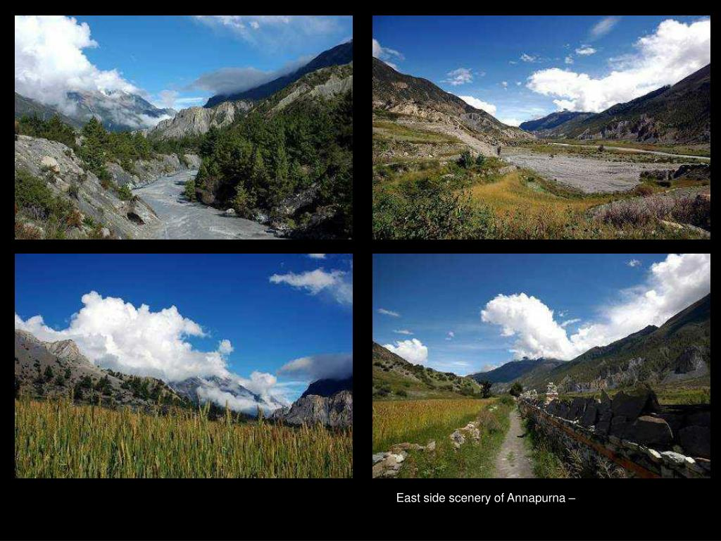 East side scenery of Annapurna –