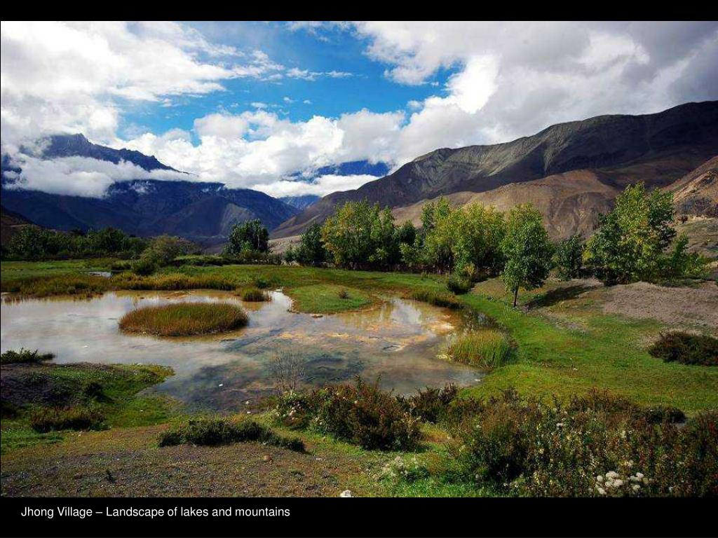 Jhong Village – Landscape of lakes and mountains