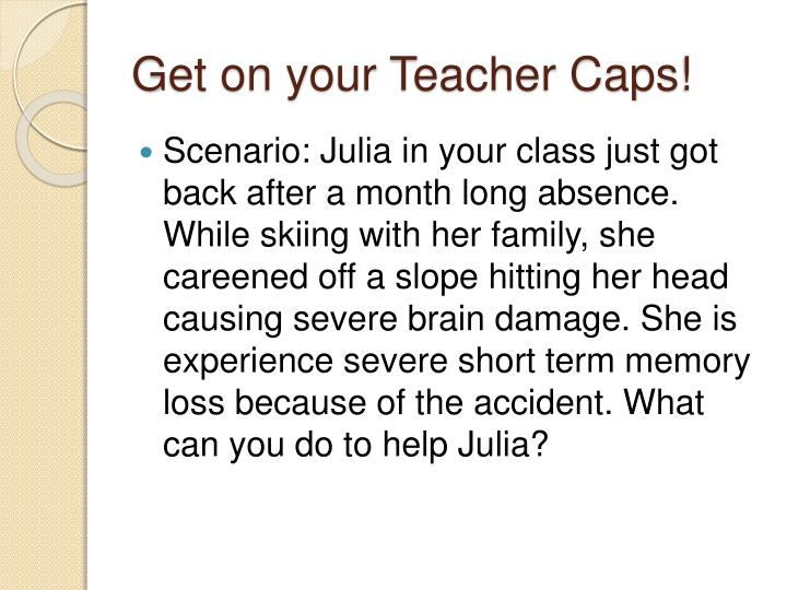 Get on your Teacher Caps!