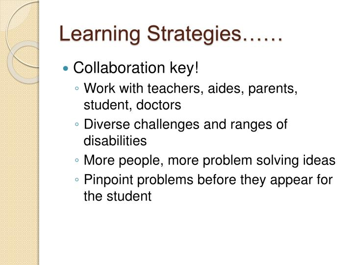 Learning Strategies……
