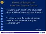 historical perspective infectious disease control