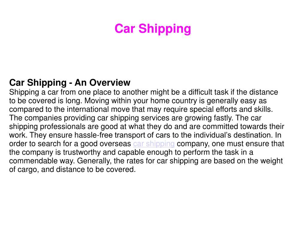car shipping l.