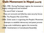 dalit movement in nepal cont d
