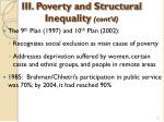 iii poverty and structural inequality cont d