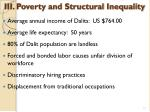 iii poverty and structural inequality