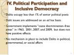 iv political participation and inclusive democracy