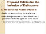 proposed policies for the inclusion of dalits cont d