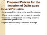 proposed policies for the inclusion of dalits cont d27