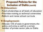proposed policies for the inclusion of dalits cont d28