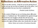 reflections on affirmative action