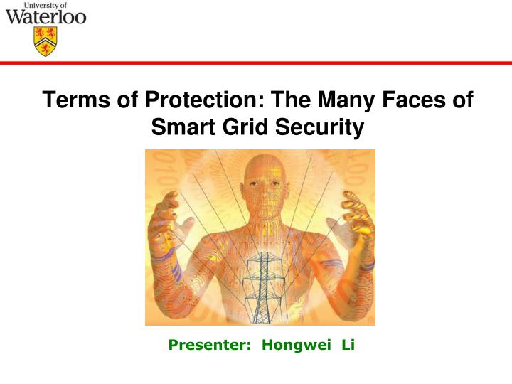 terms of protection the many faces of smart grid security n.